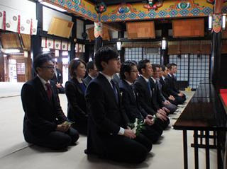 初詣:白山神社にて。