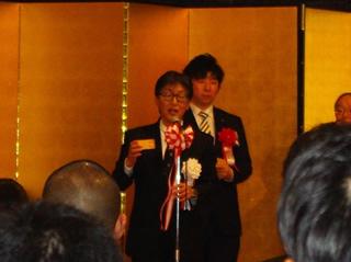乾杯 シニア代表幹事 津吉先輩